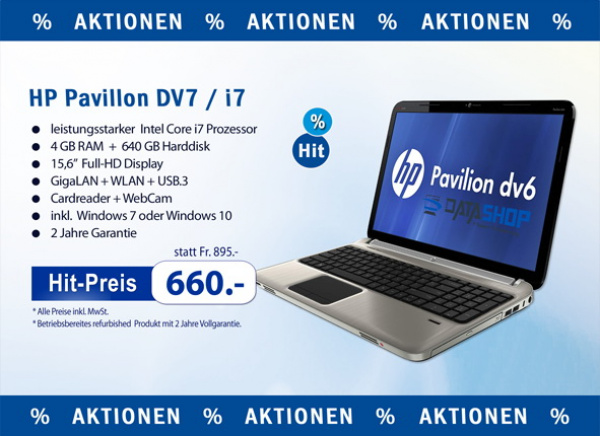 HP Pavillon DV7